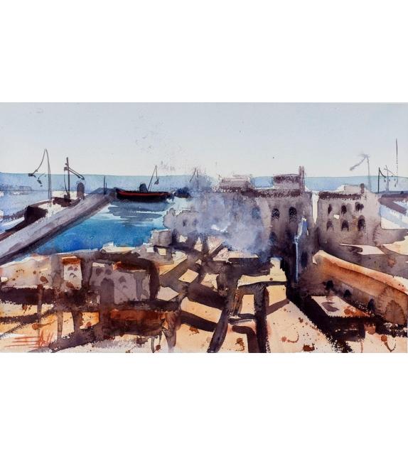 Simone De Marco view of Empedocle harbor